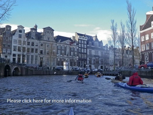 Sea kayaking in the canals of Amsterdam, Travels with Paddles, sea kayak Amsterdam, zeekajak, kajak